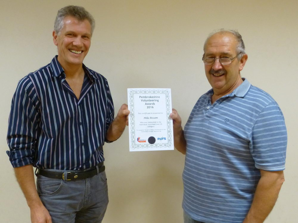 Mike Bossom  (current volunteer) with Roger Howells (Current Chairman)