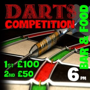 DARTS COMPETITION December 13th 6PM