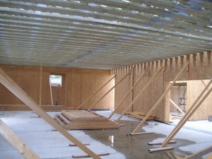 First floor joists give the main hall room a ceiling