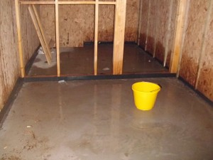 The floor is almost 50mm out of level so is redone.