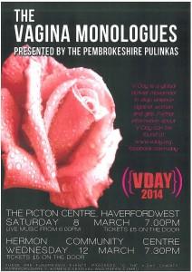 Vagina Monologues, Canolfan Hermon, Pembrokeshire Pulinkas
