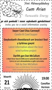 CARE, Noson Cawl, Cwm, Arian
